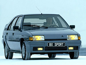 Технические характеристики Citroen BX 19 GTI 16V 1986-1989 г.