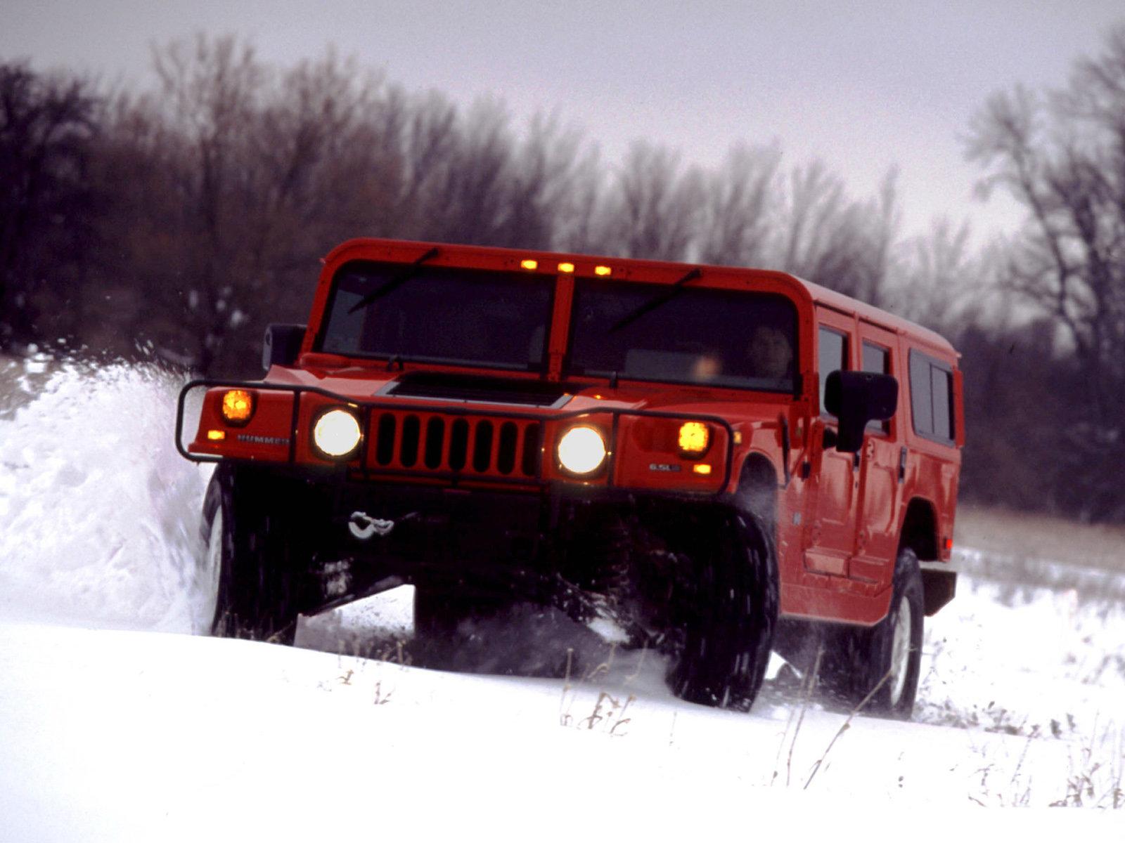 красный автомобиль джип HUMMER H1  № 344751 загрузить