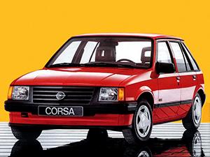 Технические характеристики Opel Corsa 1.3i 1985-1990 г.
