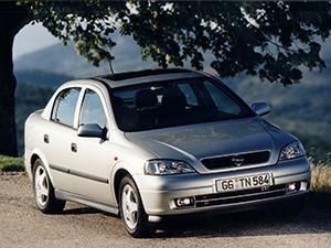 Технические характеристики Opel Astra 1.6i 1998-2004 г.