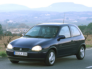 (B) с 1997 по 2000