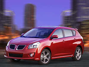 Технические характеристики Pontiac Vibe
