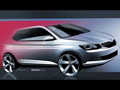 Skoda представила эскиз нового поколения Fabia