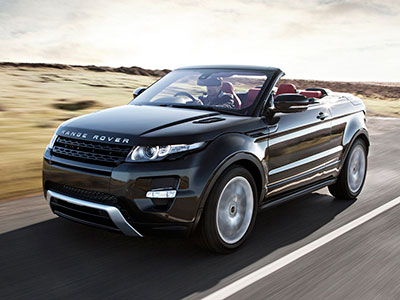 Первый кабриолет Range Rover Evoque выпустят в продажу в 2015-ом году